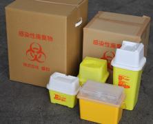 専用箱に廃棄物を封印